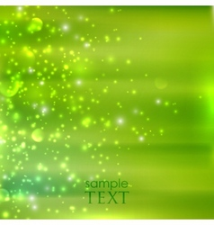 Abstract green background with sparkles vector