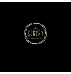 bakery organic emblem vector image
