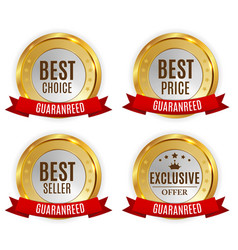 Best price seller choice and exclusive offer vector
