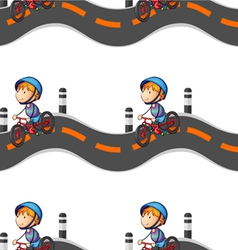 boy riding on bicycle vector image