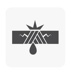 burst pipe icon vector image
