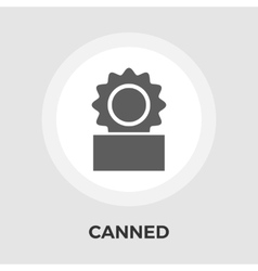 Canned Flat Icon vector