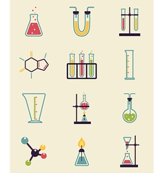 Chemistry icons vector