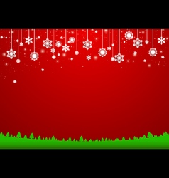 Christmas snowflakes background Paper style vector
