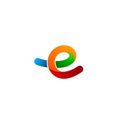color letter e logo icon design vector image