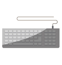 Colorful graphic of computer keyboard without vector