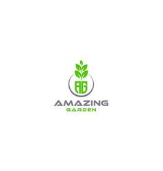 Creative and modern ag garden for natural vector