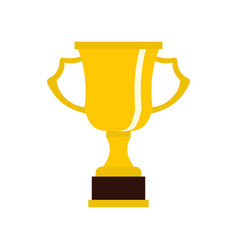 Cup for win icon flat style vector