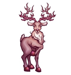 deer in cartoon style vector image
