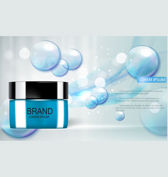 design cosmetics product template for ads o vector image