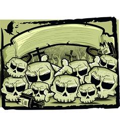 Detailed cartoon skull vector image