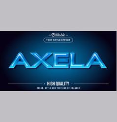 Editable text style effect - alexa theme style vector