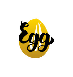Egg handwritten lettering vector