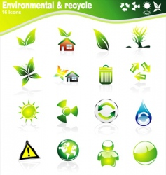 environmetal icons vector image vector image