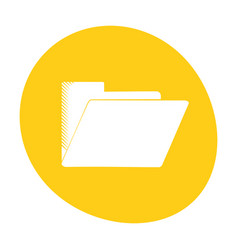 Folder file document archive icon color vector