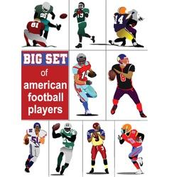 Football players vector