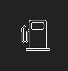 Fuel gas station icon in line style car petrol vector