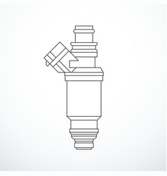 Fuel injector isolated vector