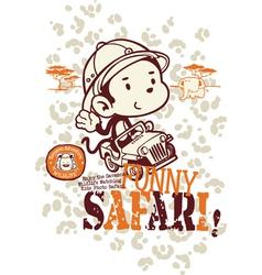 Funny safari monkey vector