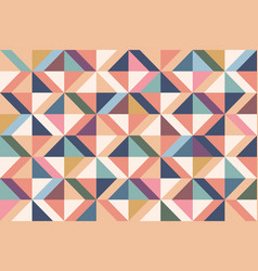 geometric abstract pattern with colorful rhombuses vector image