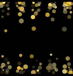 Golden glitter confetti on a black background vector