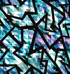 grunge mosaic geometric seamless pattern vector image vector image