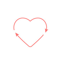 Heart recycle love icon symbol eps10 vector