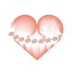 Icy heart vector