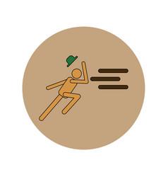 In flat design of man running vector