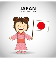 japanese kid vector image