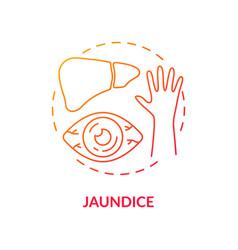 Jaundice concept icon vector