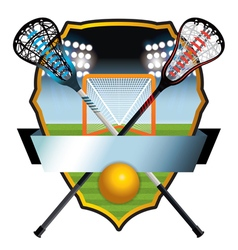 Lacrosse Badge vector image