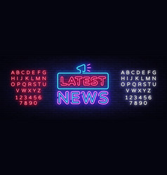 latest news sign design template breaking vector image
