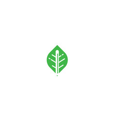 leaf pencil logo icon vector image