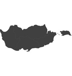 map of cyprus split into regions vector image vector image
