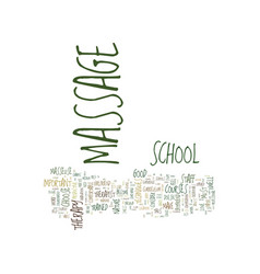 Massage school text background word cloud concept vector