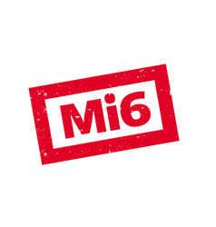mi6 rubber stamp vector image
