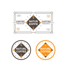 minimal coffee label and badge vector image