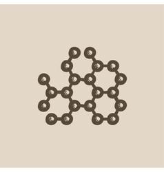 Molecule sketch icon vector