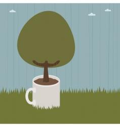 mug tree vector image vector image
