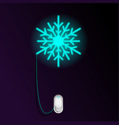 new year and christmas design concept with neon vector image