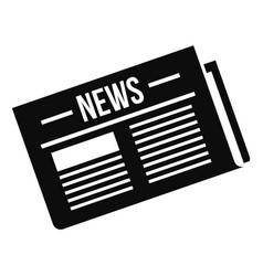 Newspaper icon simple style vector