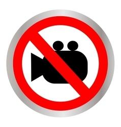 No camera no photo sign red prohibition vector