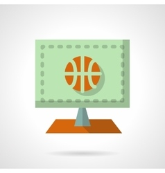 Online basketball flat color design icon vector image