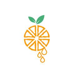 Orange fruit graphic design template isolated vector