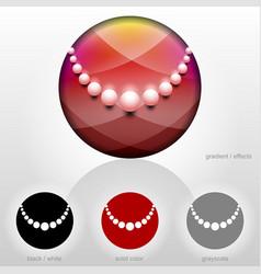 Pearl chaplet symbol inside circle shape vector
