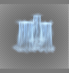 Realistic waterfall with clear water vector