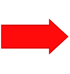 red arrow direction icon on white background flat vector image