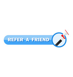 refer a friend concept people shout on megaphone vector image
