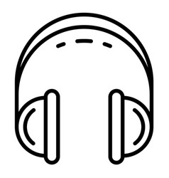 retro headset icon outline style vector image